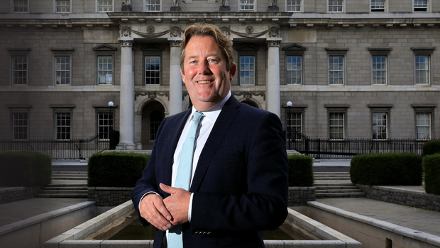 READY TO SERVE: Minister for Housing, Local Government and Heritage Darragh O'Brien outside the Custom House in Dublin. Photo: Frank McGrath