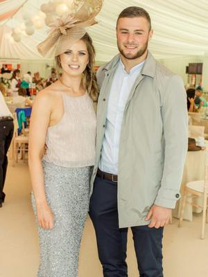 Kate Fortune & Robbie Henshaw pictured at the 150th Dubai Duty Free Irish Derby at the Curragh Racecourse on Saturday 27th June. Photo Anthony Woods.