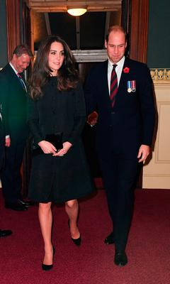 The Duke and Duchess of Cambridge arrive at the annual Royal Festival of Remembrance at the Royal Albert Hall in London