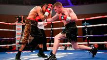 Paddy Barnes, right, in action against Adrian Dimas Garzon