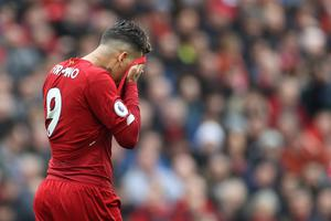 REMARKABLE: Roberto Firmino hasn't scored at Anfield this season. Action Images via Reuters/Carl Recine