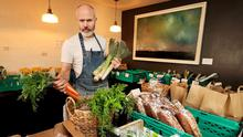 Food for thought: John Wyer, owner of Forest Avenue Restaurant, has adapted and is now selling seasonal veg, fish, meat, homemade pasta, home-cooked dinners and bread. Photo: Steve Humphreys