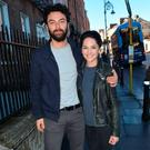 Poldark star Aidan Turner & Sarah Greene attend a panel discussion on acting at The Teacher's Club on Parnell Street as part of the Jameson Dublin International Film Festival