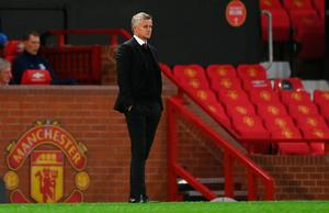 Familiar failing: Manchester United manager Ole Gunnar Solskjaer looks on in bewilderment at another dismal defeat at Old Trafford. Photo: Shaun Botterill/NMC Pool/PA Wire