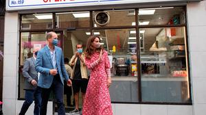 The Duke and Duchess of Cambridge leave after a visit to the Beigel Bake Brick Lane Bakery in London. Photo credit: Justin Tallis/PA Wire