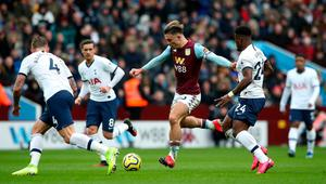 Aston Villa's Jack Grealish in action recently against Tottenham Hotspur. Photo: Nick Potts/PA Wire