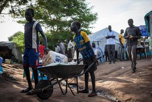 Official UN data revealed that 32,000 people across the world were displaced by conflict every day last year, with South Sudan just one of the troubled locations. Photo: Nichole Sobecki/AFP/Getty Images