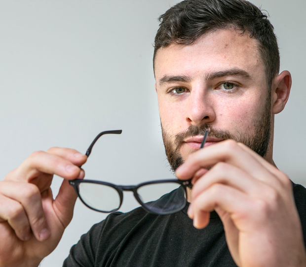Rugby star Robbie Henshaw with some of his specially designed eyewear