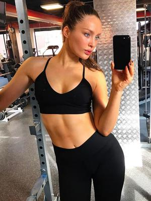 Roz Purcell working out at the gym. Picture: Instagram