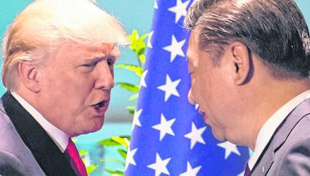Trade tensions between Donald Trump and Chinese leader Xi Jinping get the blame for an expected reduction in the growth of world trade. Photo: SAUL LOEB/AFP/Getty Images