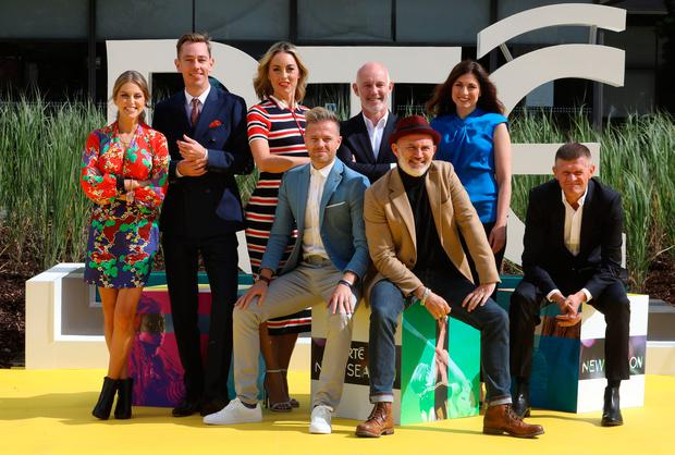 16/8/2018 RTE announce shake up in New Season Launch - L-R Amy Huberman, Ryan Tubridy, Kathryn Thomas, Nicky Byrne, Ray D'Arcy, Tommy Tiernan, Joanne Cantwell and Brendan O Connor.Pic: Collins