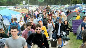 31 Aug 2018; General view of revellers arriving for first day of Electric Picnic festival. Stradbally, Co. Laois. Picture: Caroline Quinn