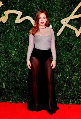 Tanya Burr attending the British Fashion Awards at the London Coliseum, St Martin's Lane, in London Credit: Ian West/PA Wire.