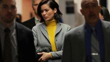 Tarale Wulff, witness in the trial of film producer Harvey Weinstein returns to court following a break in New York State Supreme Court in the Manhattan borough of New York, U.S., January 29, 2020.  REUTERS/Lucas Jackson