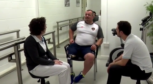 Chris' weight-loss is affecting his prosthetic leg