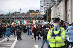 Hundreds of people attended the protest Photo: Stephen Collins/Collins Photography