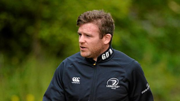 Leinster's Gordon D'Arcy arriving for squad training