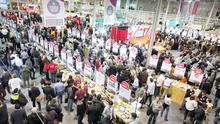 Crowds at the Web Summit at the RDS this week. Photo: Stephen Collins/Collins Photos