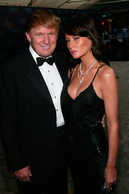 "Donald Trump and Melania Knauss attend the ""2004 CFDA Fashion Awards"" at the New York Public Library June 7, 2004 in New York City. (Photo by Evan Agostini/Getty Images)"