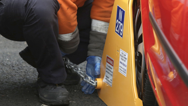 New figures on parking enforcement in the capital last year show 911 vehicles were clamped on Mespil Road during 2019 (stock photo)