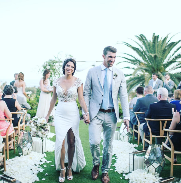 Michael Phelps and Nicole Johnson. Picture: Instagram.
