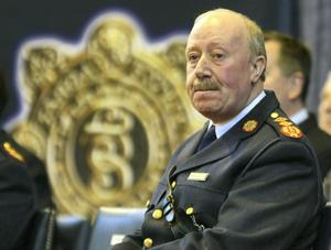 Garda commissioner Martin Callinan who dramatically resigned. Photo: Niall Carson/PA Wire.
