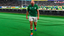 Rory Best leaves the pitch to be with his family on a day when Kiwi young guns beat the old guard. Photo: Brendan Moran