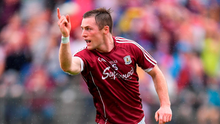 Danny Cummins of Galway celebrates scoring his side's third goal