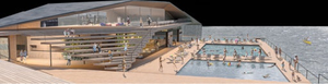 An artist's impression of the pool