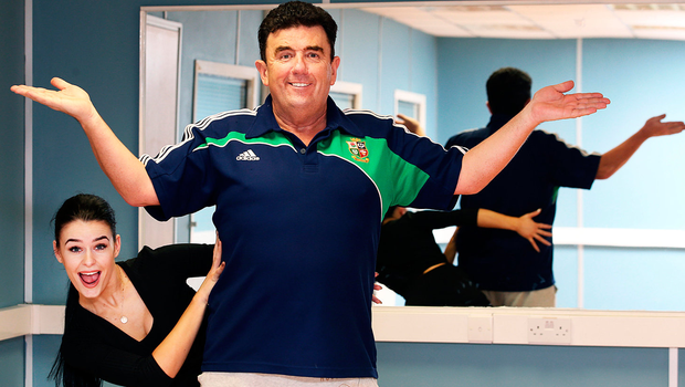 Des Cahill and Karen Byrne in 'Dancing With The Stars' Picture: Steve Humphreys