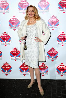 Jerry Hall arriving for the 2014 NME Awards, at Brixton Academy, London. PRESS ASSOCIATION Photo. Picture date: Wednesday February 26, 2014. Photo credit should read: Ian West/PA Wire