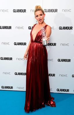 Kate Hudson with her Entrepreneur award, at the Glamour Women of the Year Awards 2015 held at Berkeley Square Gardens