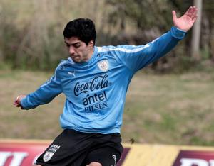 Uruguay and Liverpool's Luis Suarez. Picture: REUTERS/Andres Stapff