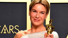 Renée Zellweger with her best actress Oscar for 'Judy'. Picture: PA