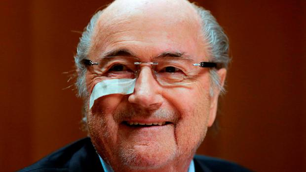 Sepp Blatter faced the media in Zurich yesterday