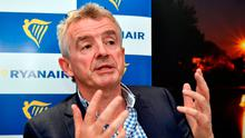Ryanair's CEO Michael O'Leary. Photo: AFP/Getty Images