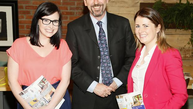 no fee if house 2016 mentioned in caption Jenny Adamson, Mark Keenan and Jen Fitzsimons at the launch of house 2016  at The Chocolate Factory. The new interiors event launched by INM will run from 20th - 22nd May 2016 at the RDS Simmonscourt, and will showcase the very best of all things home and interiors related-photo Kieran Harnett