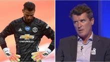 Manchester United keeper David de Gea, left, has come in for some sharp criticism from former Red Devils captain Roy Keane of late