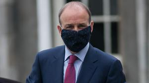 Leader: Micheál Martin, on his way to Cabinet yesterday, has seen his first few weeks in office marked by controversy. Photo: Collins