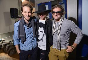 "PARK CITY, UT - JANUARY 22:  (L-R) Udi Sahar, Abigail Mitchell, and Casey Neistat attend The Snow Lodge x Eveleigh ""Little Accidents"" party on January 22, 2014 in Park City, Utah.  (Photo by Michael Loccisano/Getty Images for Snow Lodge)"
