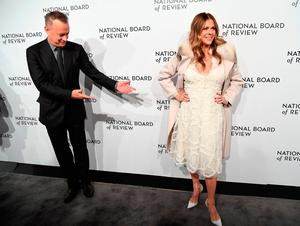 Tom Hanks and Rita Wilson attend the 2018 National Board of Review Awards Gala at Cipriani 42nd Street on January 9, 2018 in New York City. / AFP PHOTO / ANGELA WEISSANGELA WEISS/AFP/Getty Images