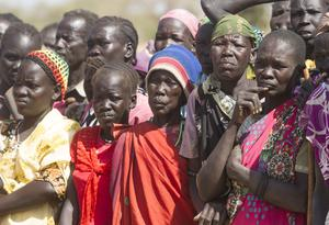 Displaced woman in Twic County of South Sudan. Photo: Mark Condren