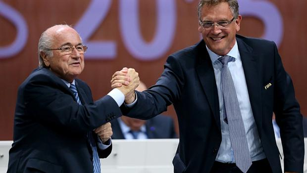 Jerome Valcke (right, with Fifa president Sepp Blatter)