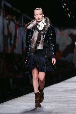 MILAN, ITALY - FEBRUARY 20:  Model Georgia May Jagger walks the runway during the Fendi show as part of Milan Fashion Week Womenswear Autumn/Winter 2014 on February 20, 2014 in Milan, Italy.  (Photo by Stefania D'Alessandro/Getty Images)