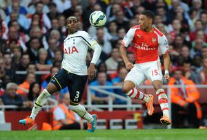 Tottenham Hotspur's Danny Rose and Arsenal's Alex Oxlade-Chamberlain