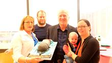 Ronan Collins was joined by his wife and family as he celebrated 30 years on the airwaves today at RTE Radio One  Pic: RTE
