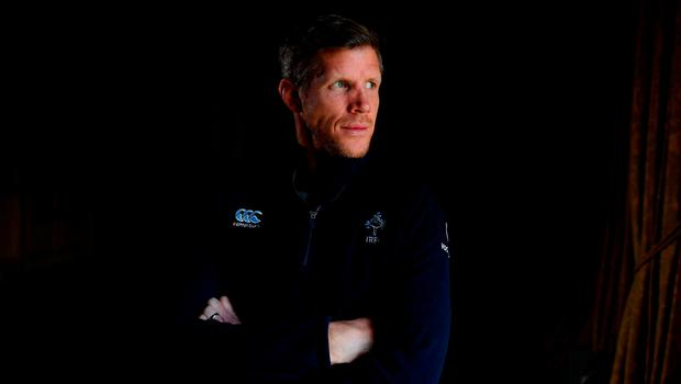 Ireland's forwards coach Simon Easterby poses for a portrait following a press conference at Carton House in Maynooth, Co Kildare. Photo: David Fitzgerald/Sportsfile