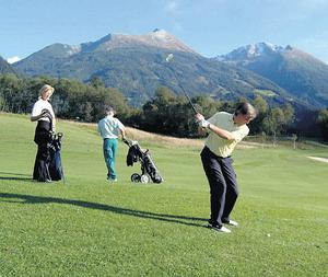 When the snow clears the Gastein valley is perfect for golf lovers.