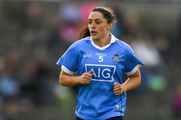 25 August 2018; Sinéad Goldrick of Dublin during the TG4 All-Ireland Ladies Football Senior Championship Semi-Final match between Dublin and Galway at Dr Hyde Park in Roscommon. Photo by Piaras Ó Mídheach/Sportsfile