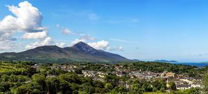 Westport, with Croagh Patrick in the background